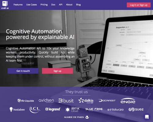 Craft ai - Cognitive Automation powered by explainable AI