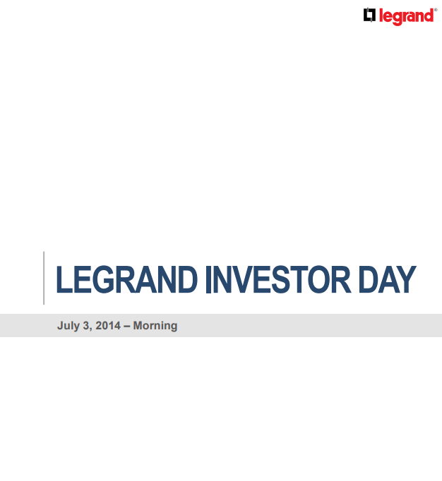 Legrand investor day - morning  2014